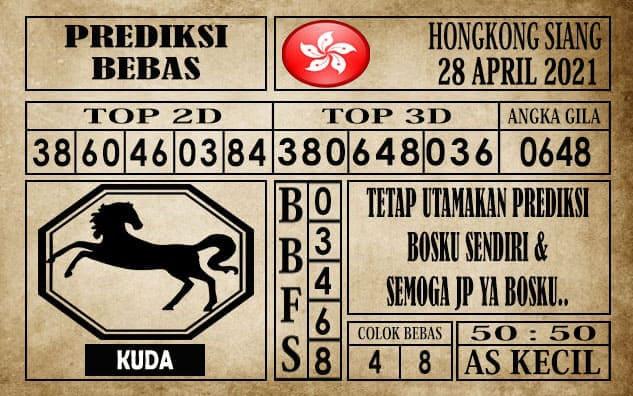Prediksi Hongkong Siang Hari ini 28 April 2021