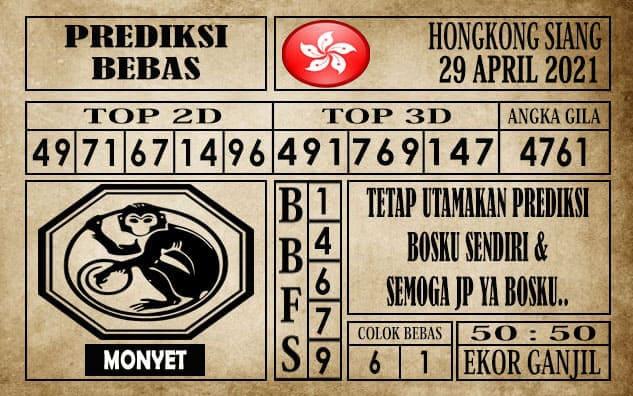 Prediksi Hongkong Siang Hari ini 29 April 2021