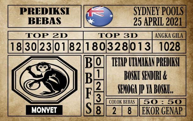 Prediksi Sydney Pools Hari ini 25 April 2021