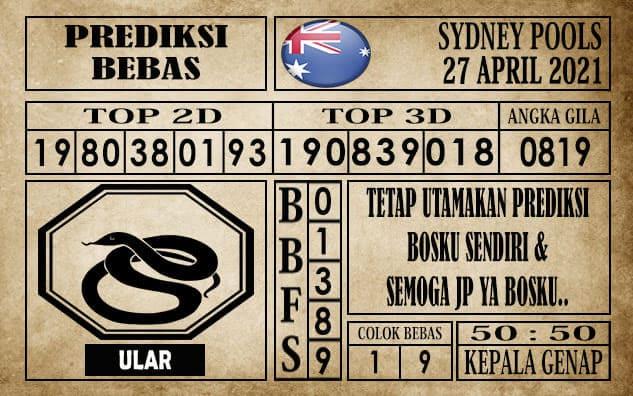 Prediksi Sydney Pools Hari ini 27 April 2021