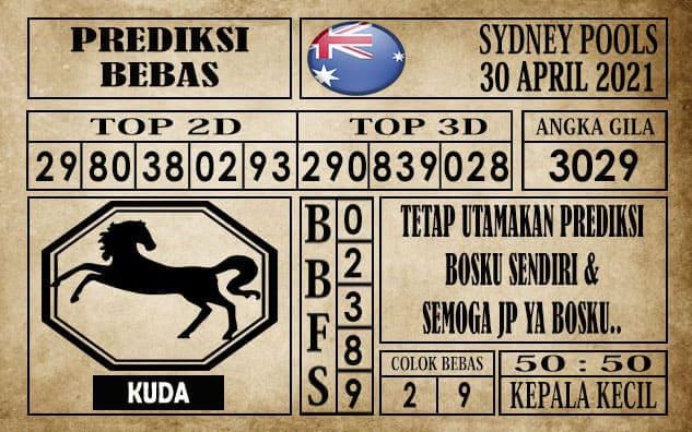 Prediksi Sydney Pools Hari ini 30 April 2021