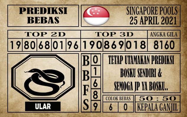 Prediksi Singapore Pools Hari ini 25 April 2021
