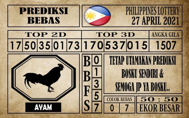 Prediksi Filipina PCSO Hari Ini 27 April 2021