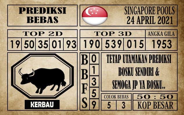 Prediksi Singapore Pools Hari ini 24 April 2021
