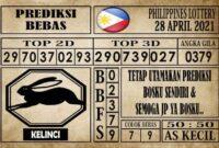 Prediksi Filipina PCSO Hari Ini 28 April 2021