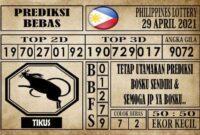 Prediksi Filipina PCSO Hari Ini 29 April 2021
