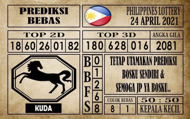 Prediksi Filipina PCSO Hari Ini 24 April 2021