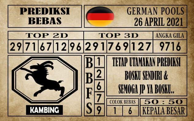Prediksi Germany Hari Ini 26 April 2021