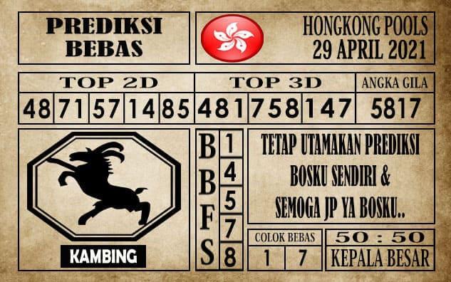 Prediksi Hongkong Pools Hari Ini 29 April 2021
