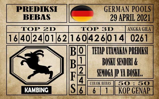 Prediksi Germany Hari Ini 29 April 2021