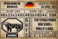 Prediksi Germany Hari Ini 30 April 2021