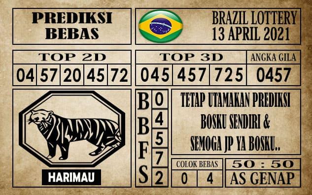 Prediksi Brazil Lottery Hari Ini 13 April 2021