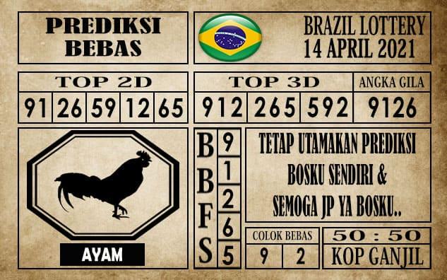 Prediksi Brazil Lottery Hari Ini 14 April 2021