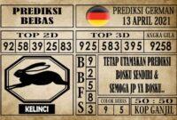 Prediksi Germany Hari Ini 13 April 2021