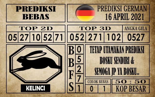 Prediksi Germany Hari Ini 16 April 2021