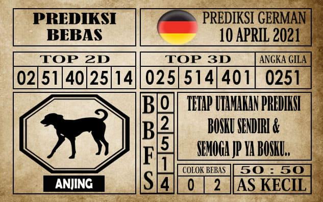Prediksi Germany Hari Ini 10 April 2021