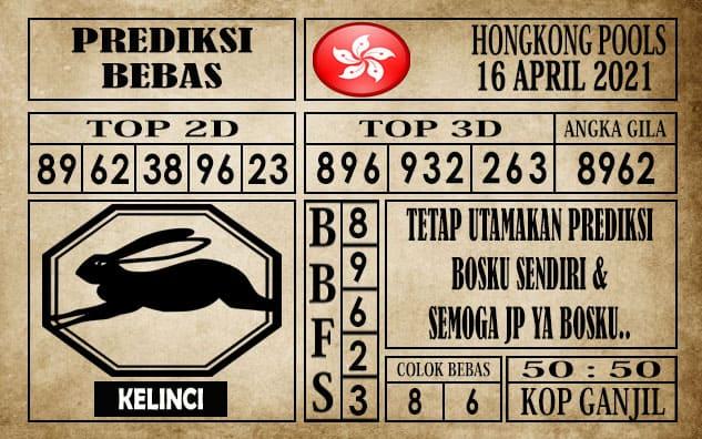 Prediksi Hongkong Pools Hari Ini 16 April 2021