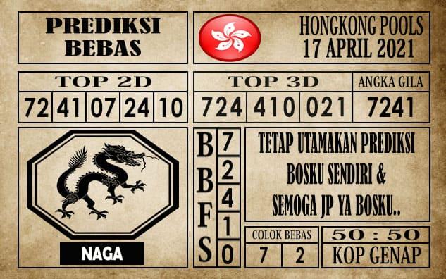 Prediksi Hongkong Pools Hari Ini 17 April 2021