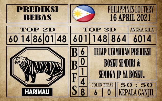 Prediksi Filipina PCSO Hari Ini 16 April 2021
