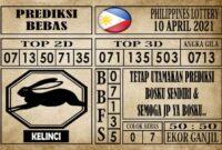 Prediksi Filipina PCSO Hari Ini 10 April 2021