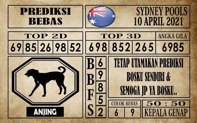 Prediksi Sydney Pools Hari Ini 10 April 2021