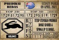 Prediksi Sydney Pools Hari Ini 09 April 2021