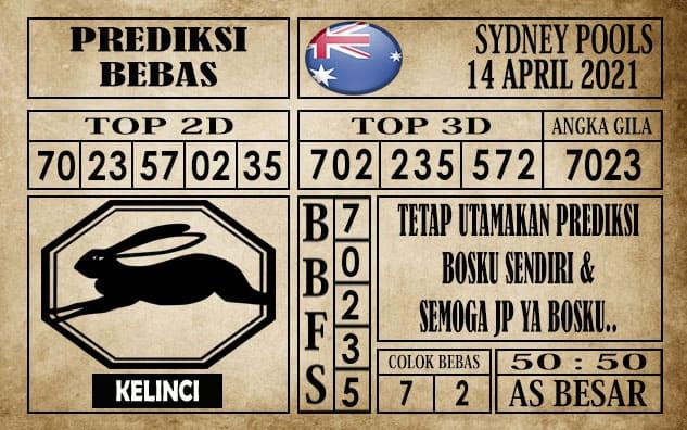 Prediksi Sydney Pools Hari Ini 14 April 2021