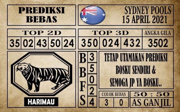 Prediksi Sydney Pools Hari Ini 15 April 2021