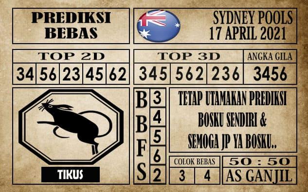 Prediksi Sydney Pools Hari Ini 17 April 2021