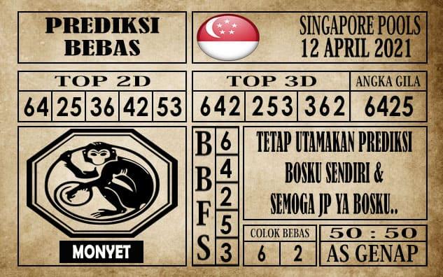 Prediksi Singapore Pools Hari ini 12 April 2021