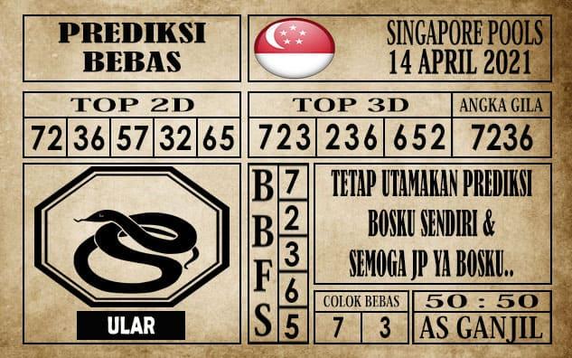 Prediksi Singapore Pools Hari ini 14 April 2021