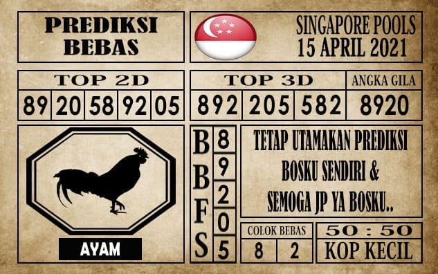 Prediksi Singapore Pools Hari ini 15 April 2021