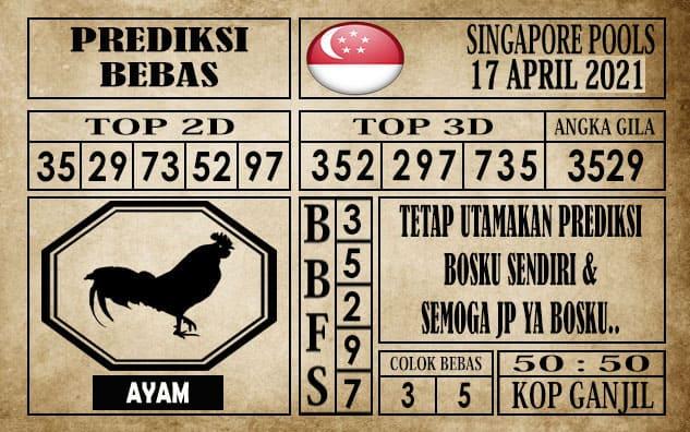 Prediksi Singapore Pools Hari ini 17 April 2021