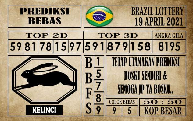 Prediksi Brazil Lottery Hari Ini 19 April 2021