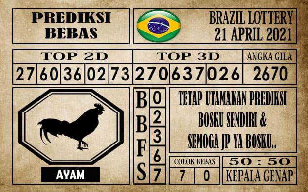 Prediksi Brazil Lottery Hari Ini 21 April 2021