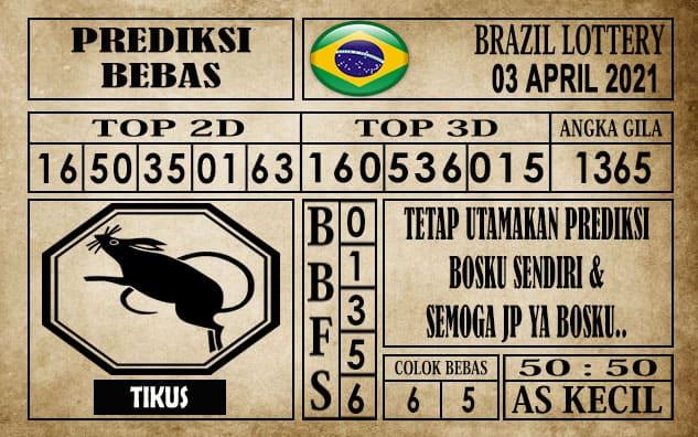 Prediksi Brazil Lottery Hari Ini 03 April 2021