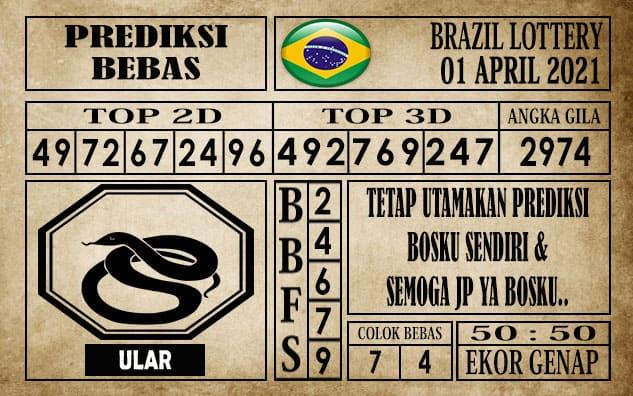 Prediksi Brazil Lottery Hari Ini 01 April 2021