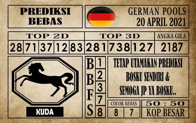 Prediksi Germany Hari Ini 20 April 2021