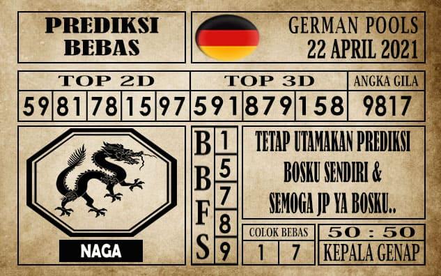 Prediksi Germany Hari Ini 22 April 2021