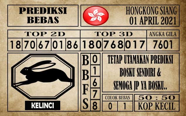 Prediksi Hongkong Siang Hari ini 01 April 2021