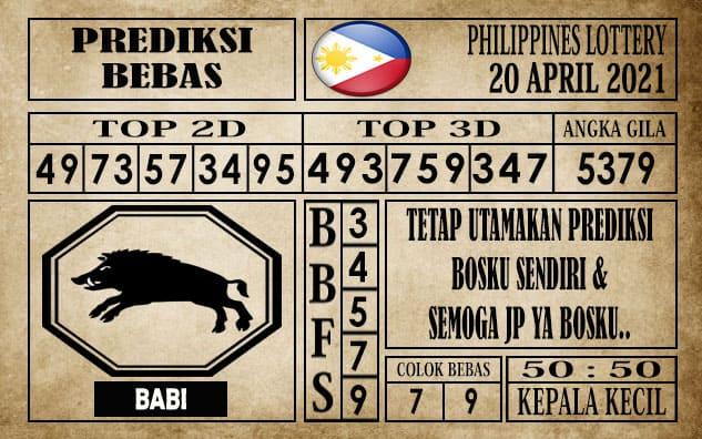 Prediksi Filipina PCSO Hari Ini 20 April 2021