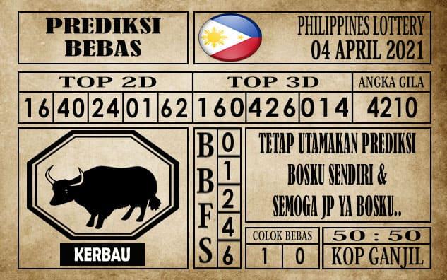 Prediksi Filipina PCSO Hari Ini 04 April 2021