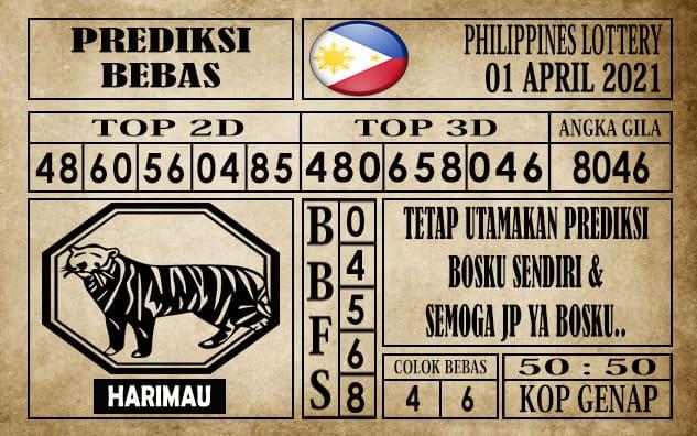 Prediksi Filipina PCSO Hari Ini 01 April 2021
