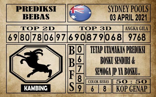 Prediksi Sydney Pools Hari ini 03 April 2021
