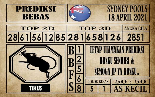 Prediksi Sydney Pools Hari ini 18 April 2021
