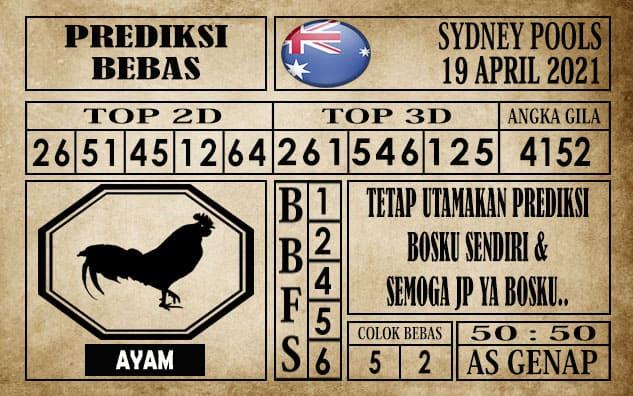 Prediksi Sydney Pools Hari ini 19 April 2021