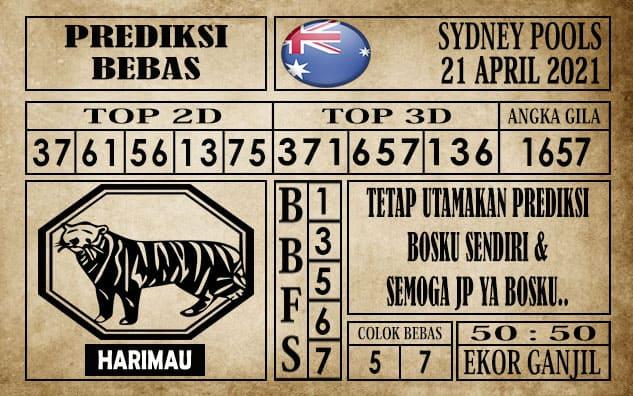 Prediksi Sydney Pools Hari ini 21 April 2021