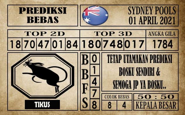 Prediksi Sydney Pools Hari ini 01 April 2021