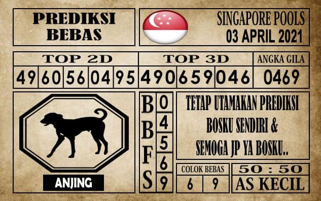 Prediksi Singapore Pools Hari ini 03 April 2021