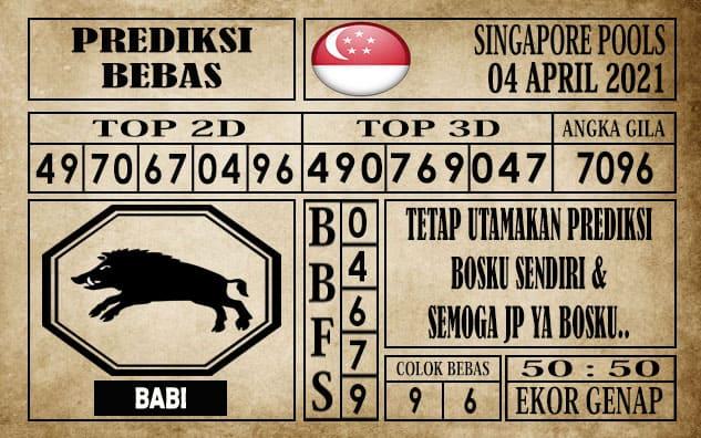 Prediksi Singapore Pools Hari ini 04 April 2021